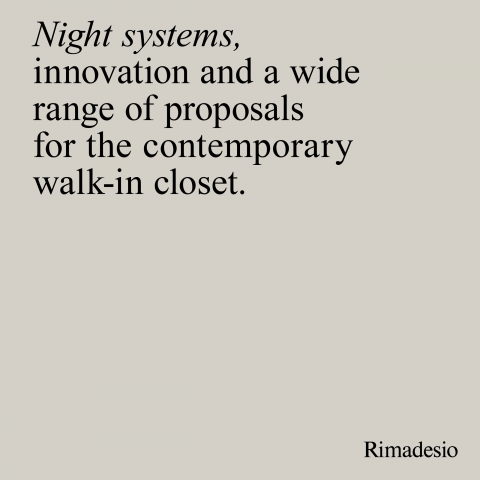 Rimadesio Night System 2019